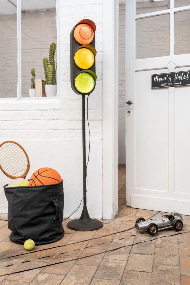 J-line Lamp Verkeer Op Voet Metaal Zwart