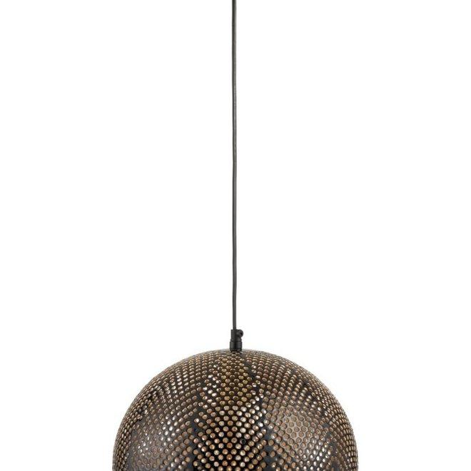 Hanglamp Gaatjes Metaal Goud/Lak Zwart