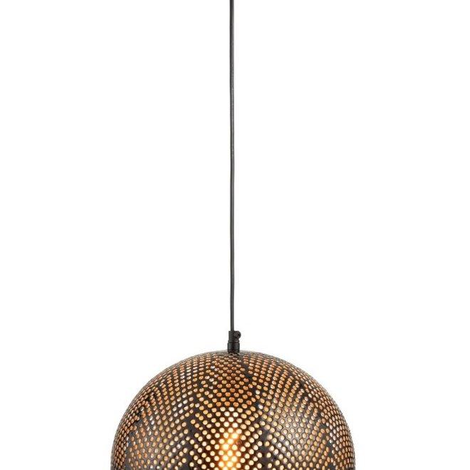 J-line Hanglamp Gaatjes Metaal Goud/Lak Zwart - 97979