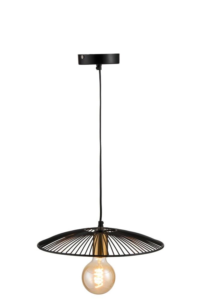 J-line Hanglamp Lijnen Metaal Zwart Small
