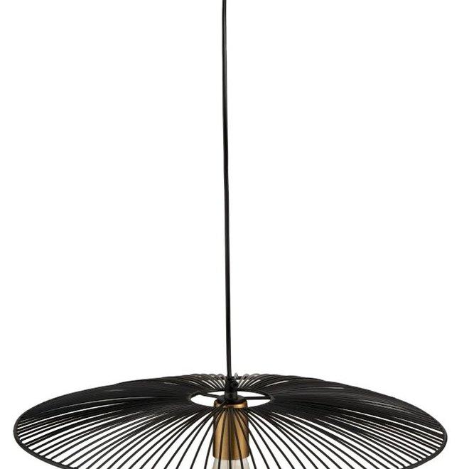 Hanglamp Lijnen Metaal Zwart Large