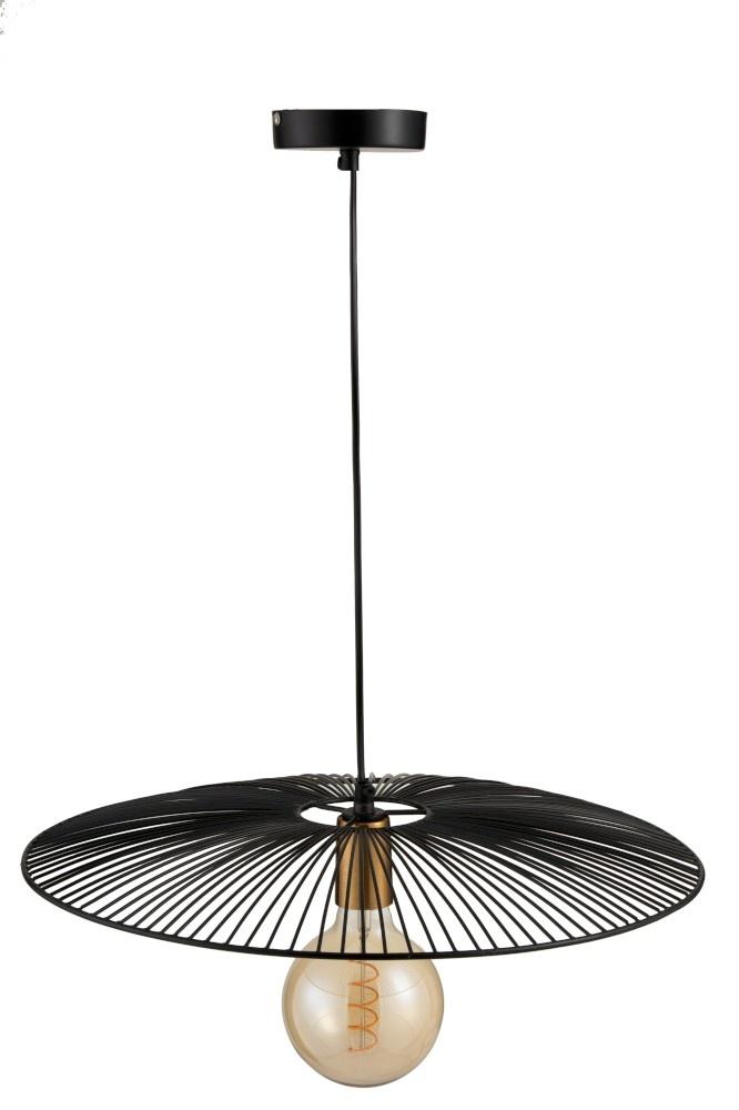 J-line Hanglamp Lijnen Metaal Zwart Large-97983-5415203979834