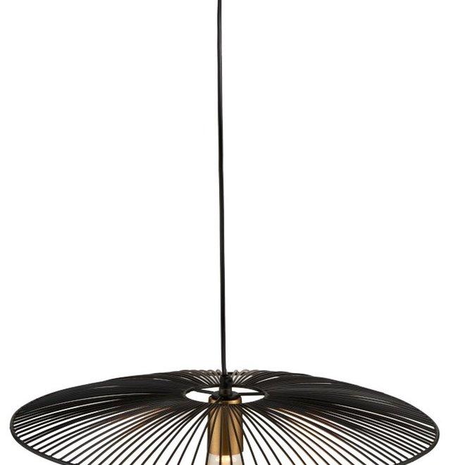 J-line Hanglamp Lijnen Metaal Zwart Large - 97983
