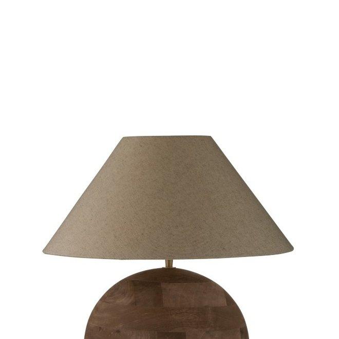 Lamp+Kap Bol Mia Mangohout Bruin Small
