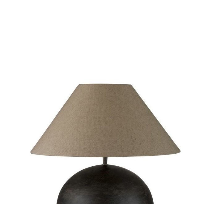 Lamp+Kap Bol Mia Mangohout Donker Grijs Small