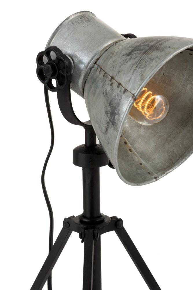 J-line Tafellamp Verstelbaar Industrieel IJzer Zwart/Grijs