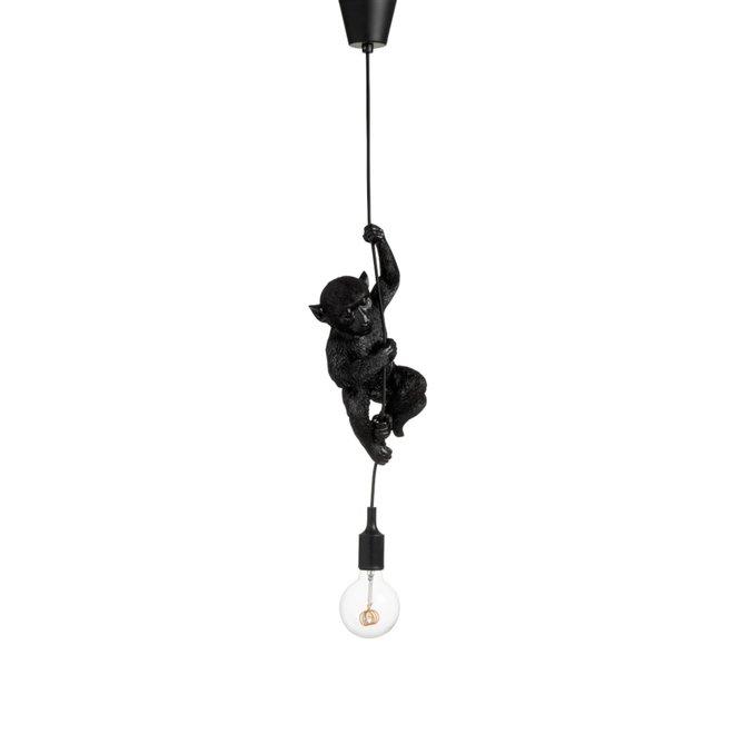 Hanglamp aap - monkey lamp - zwart kunststof