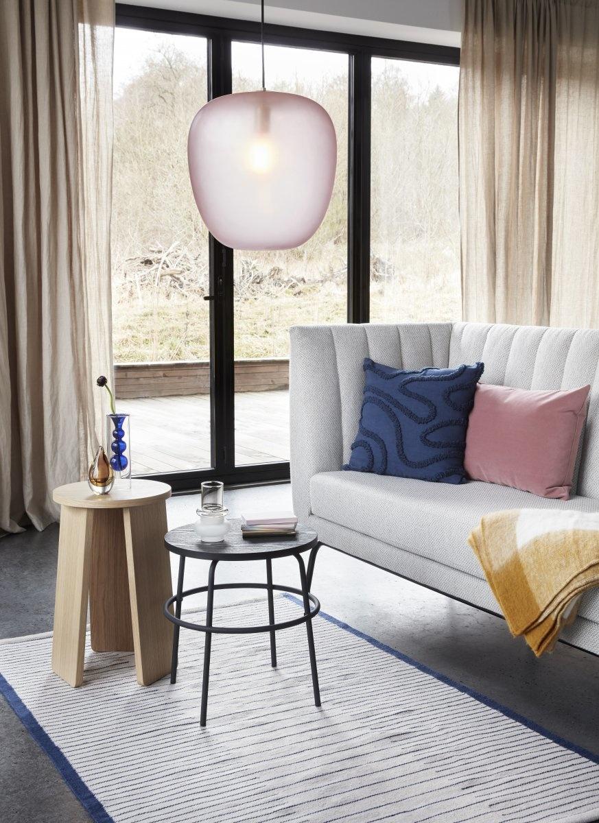 Hubsch Vaas, glas, amber / blauw / roze, set van 3