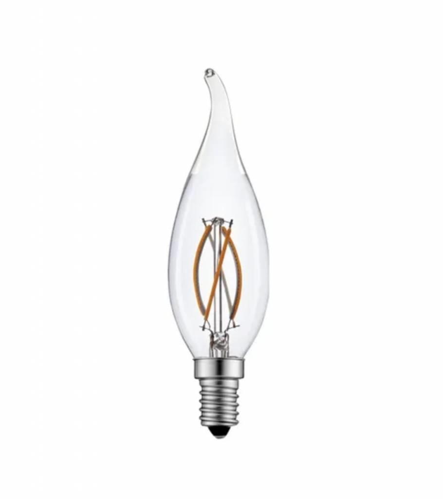 LED filament lamp - niet dimbaar - E14 F35 - 2W vervangt 25W - 2700K warm wit licht-LL249068-5901583249068