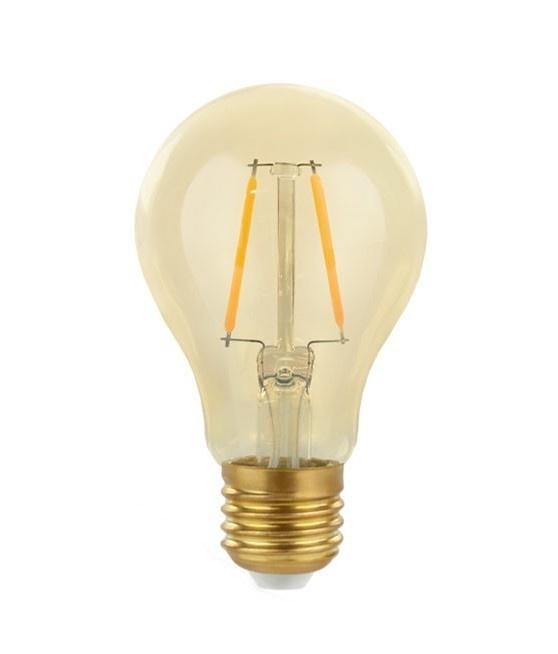 LED filament lamp - E27 fitting A60 - 2W vervangt 25W - 2500K extra warm wit licht