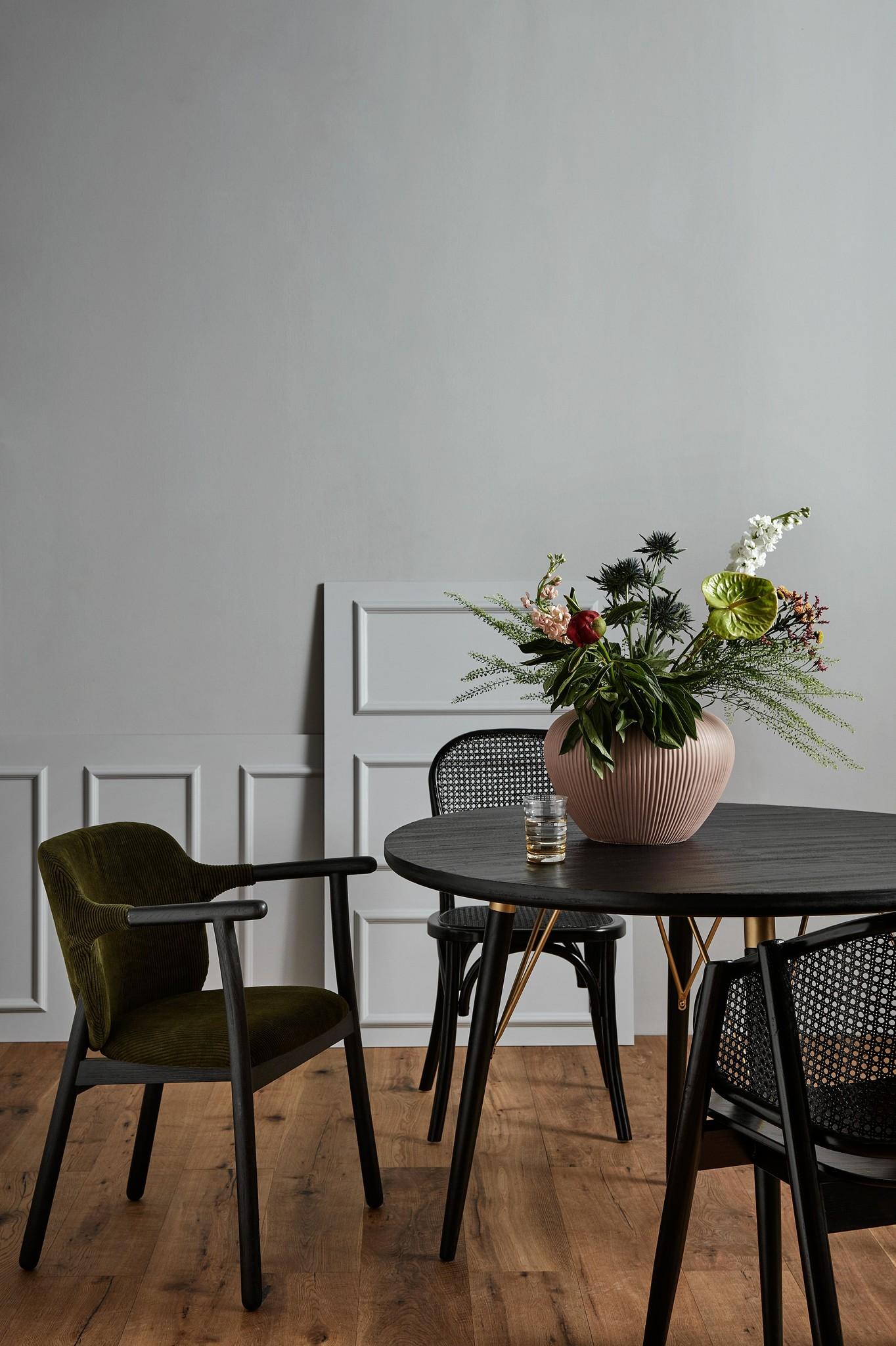 Nordal ESRUM stoel zwart/groen-70900-5708309160795
