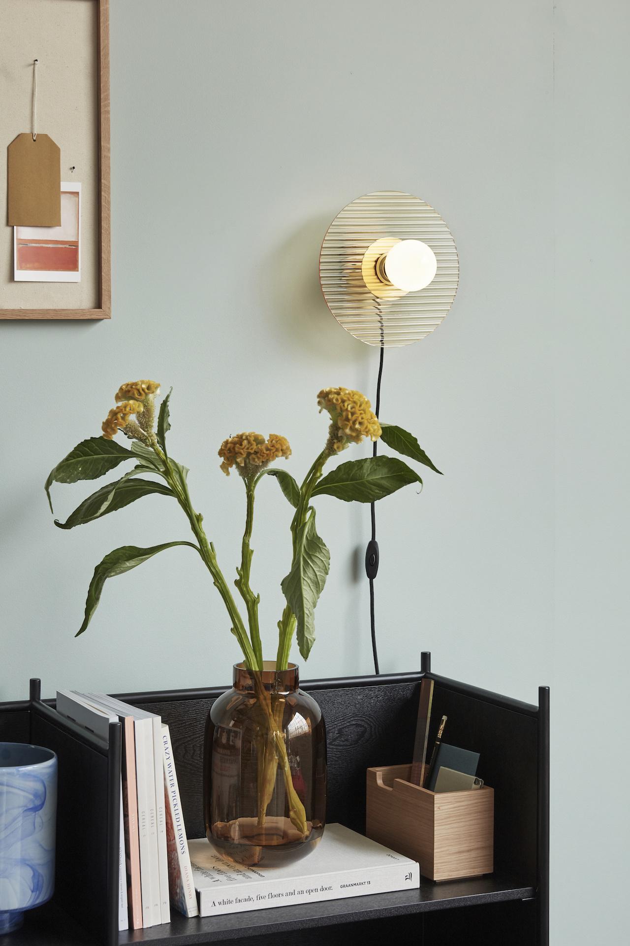 Hubsch Wandlamp Amber met lichtbron-991203-5712772102190