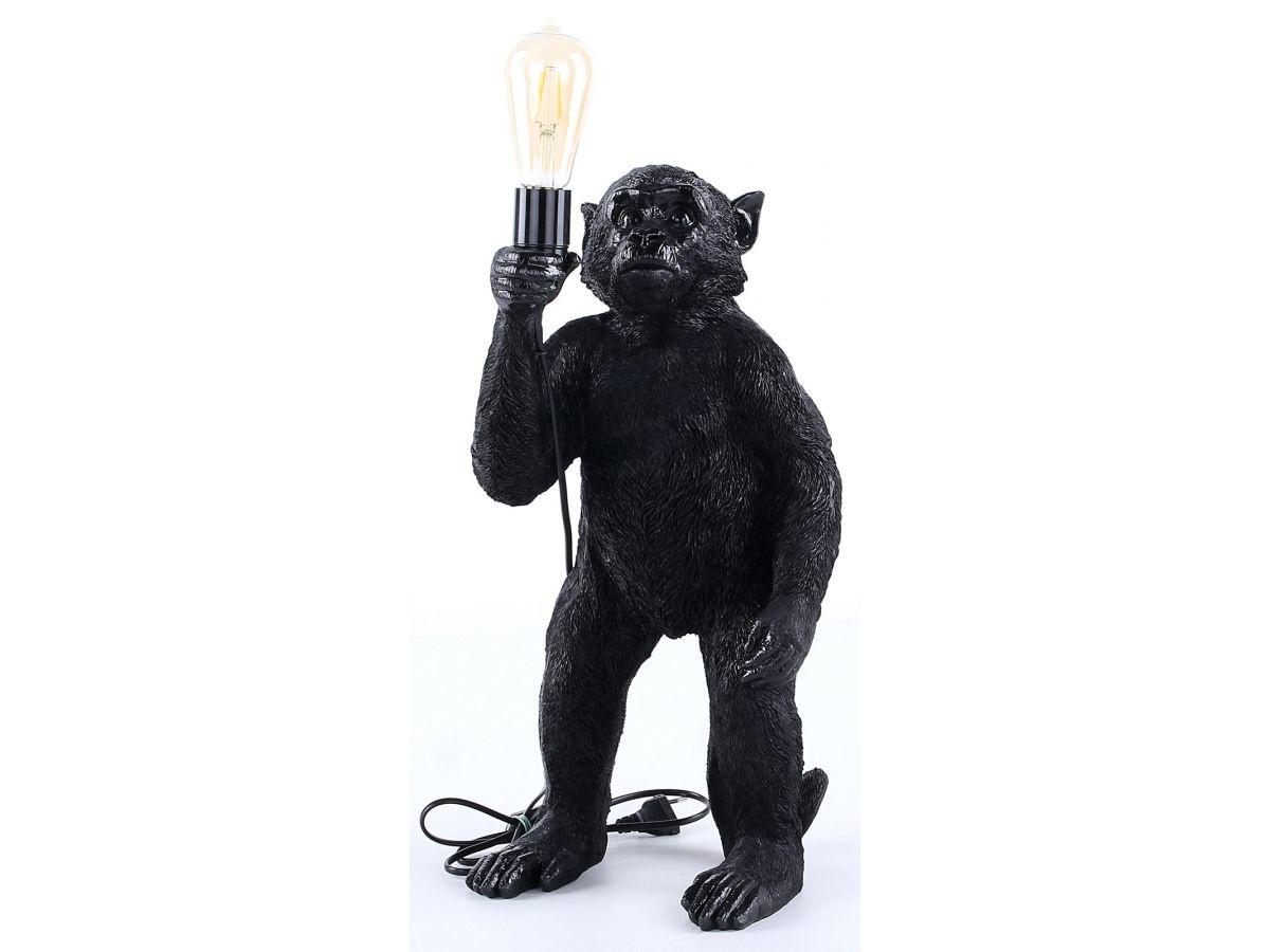 J-line Tafellamp aap - monkey lamp - zwart-94256-5415203942562