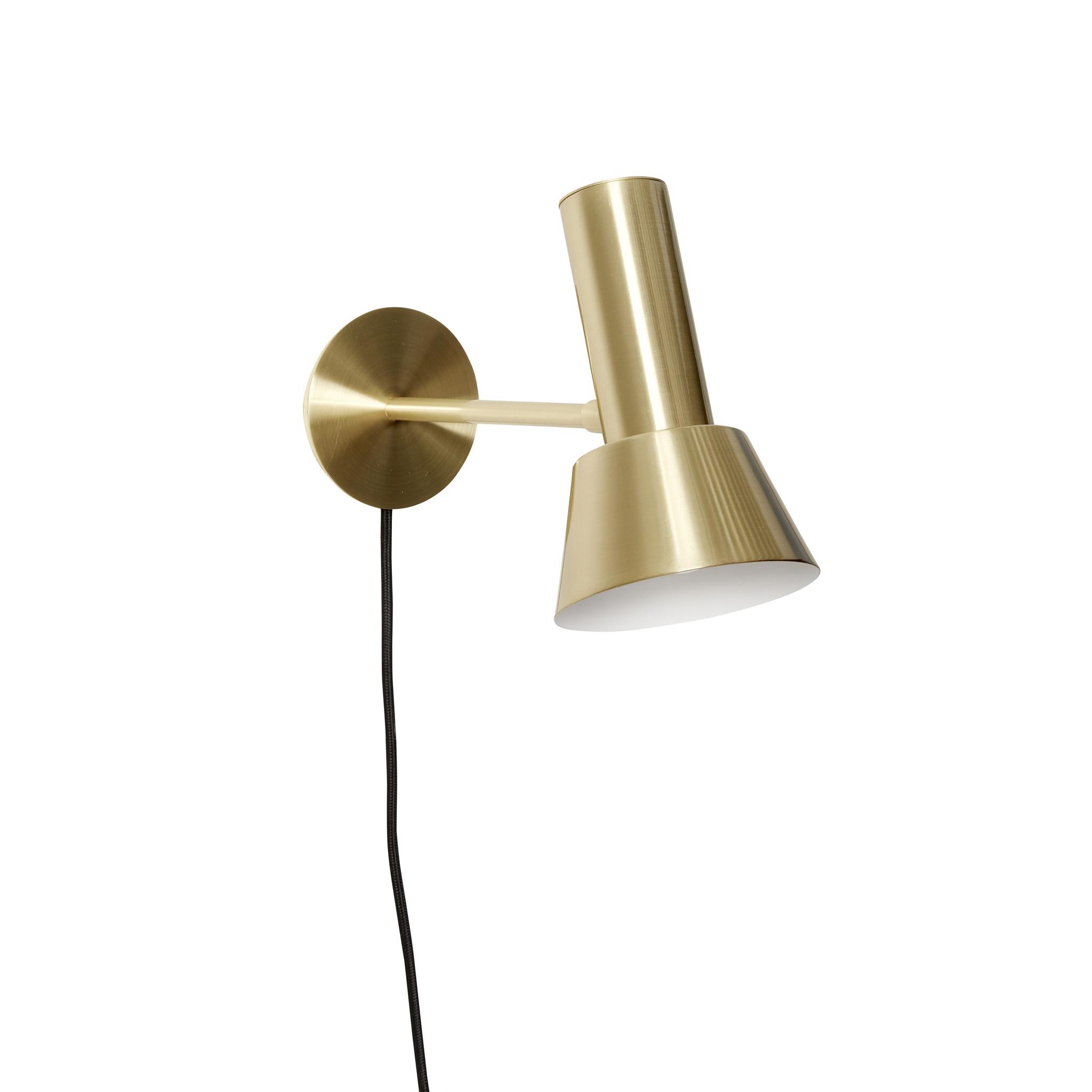 Hubsch Wandlamp messing goud/wit - 991209 - 12 x 19 x H20 cm-991209-5712772102343