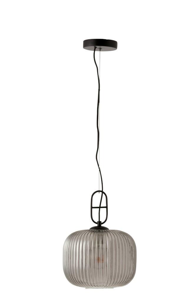 J-line Hanglamp Yufo glas staal-5741-5400924057411