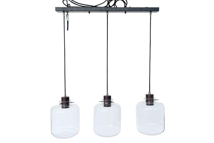 J-line Hanglamp Kiyu Glas/Staal-5721-5400924057213