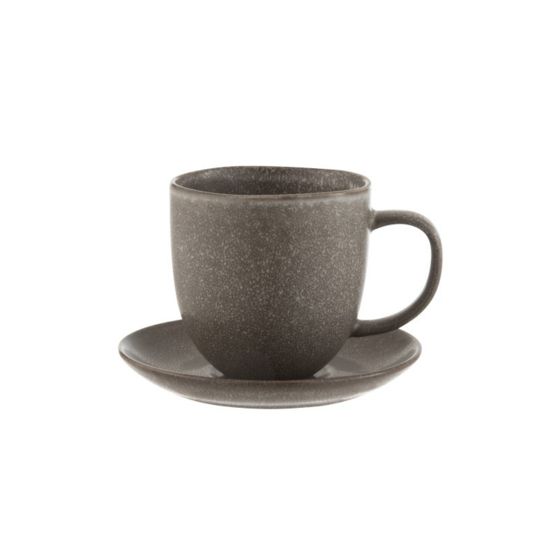 J-line Louise koffiekop & schotel - 6 st-7192-5400924071929