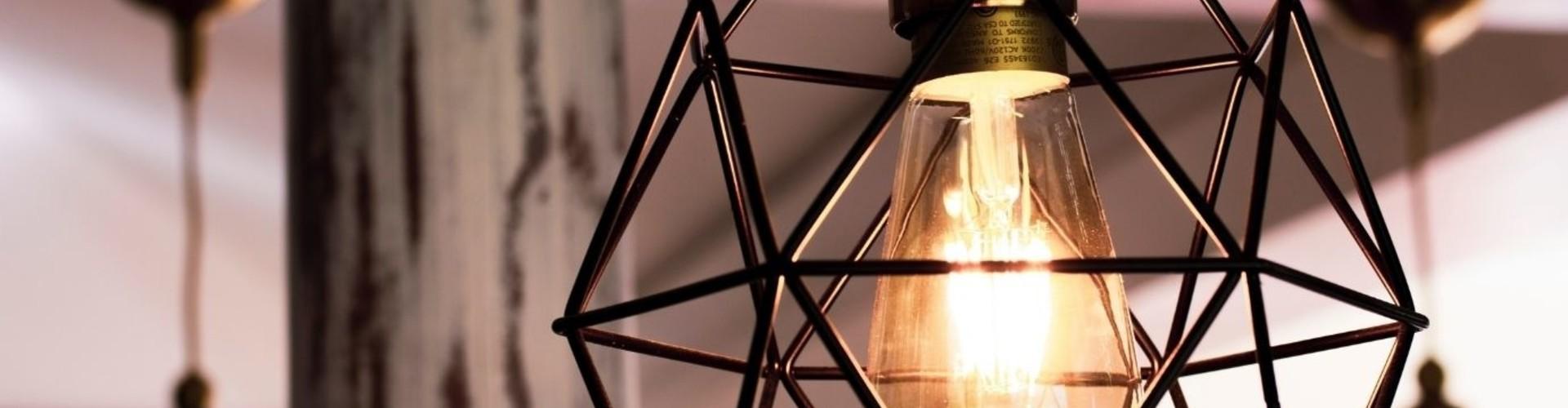 De draadlamp past in elke woonstijl