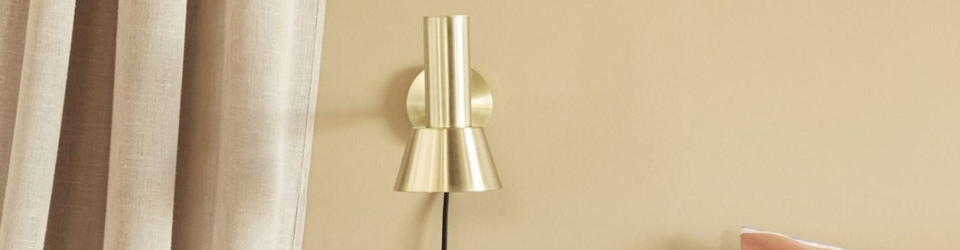Goudkleurige wandlamp - Elegant en exclusief
