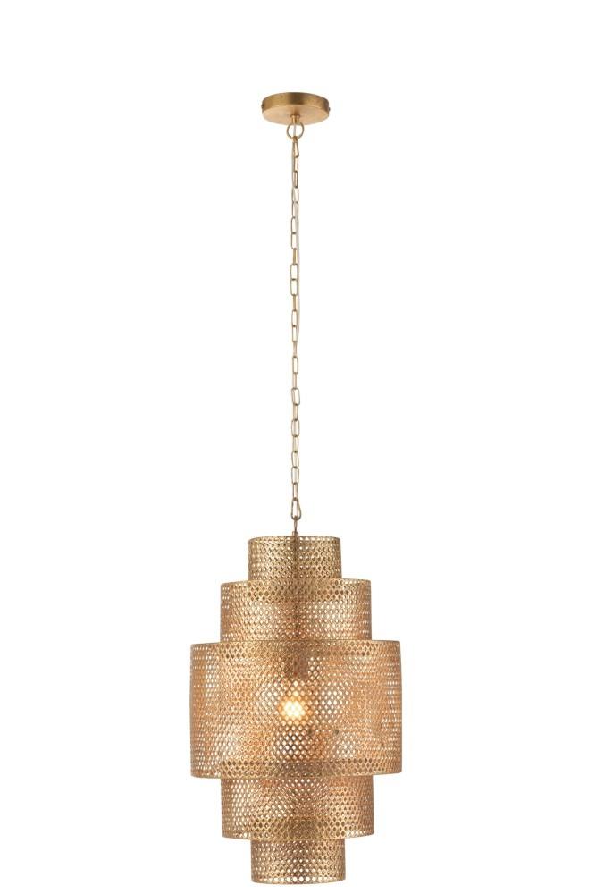 J-line Hanglamp Lagen Metaal Goud
