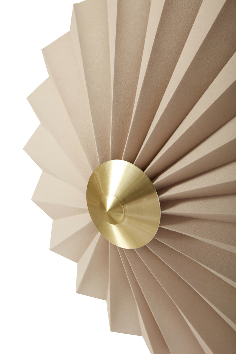 Hubsch Wandlamp, textiel/metaal, zandkleur,goud-991310-
