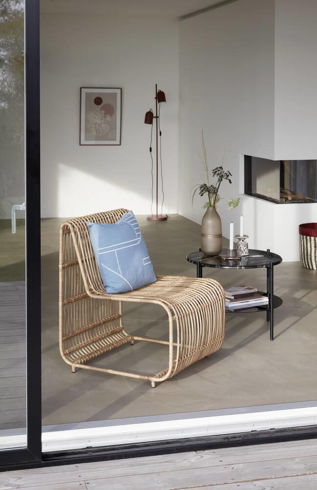 Hubsch Kandelaar, keramiek, bruin / wit, set van 2-670803-5712772068731