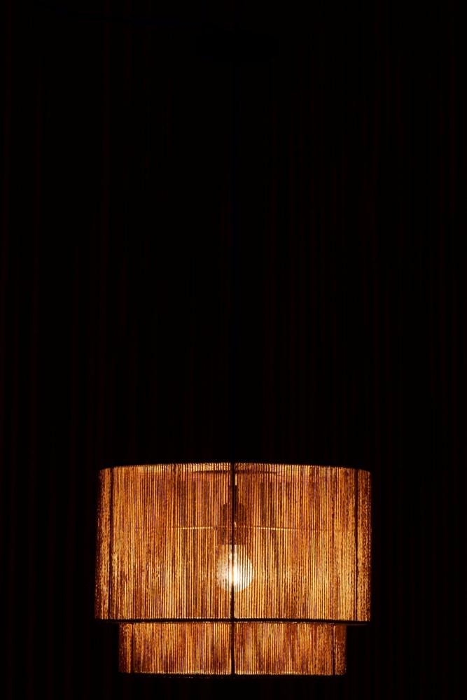 J-line Hanglamp touw metaal zwart 110 x 40 x 40-1615-5400924016159