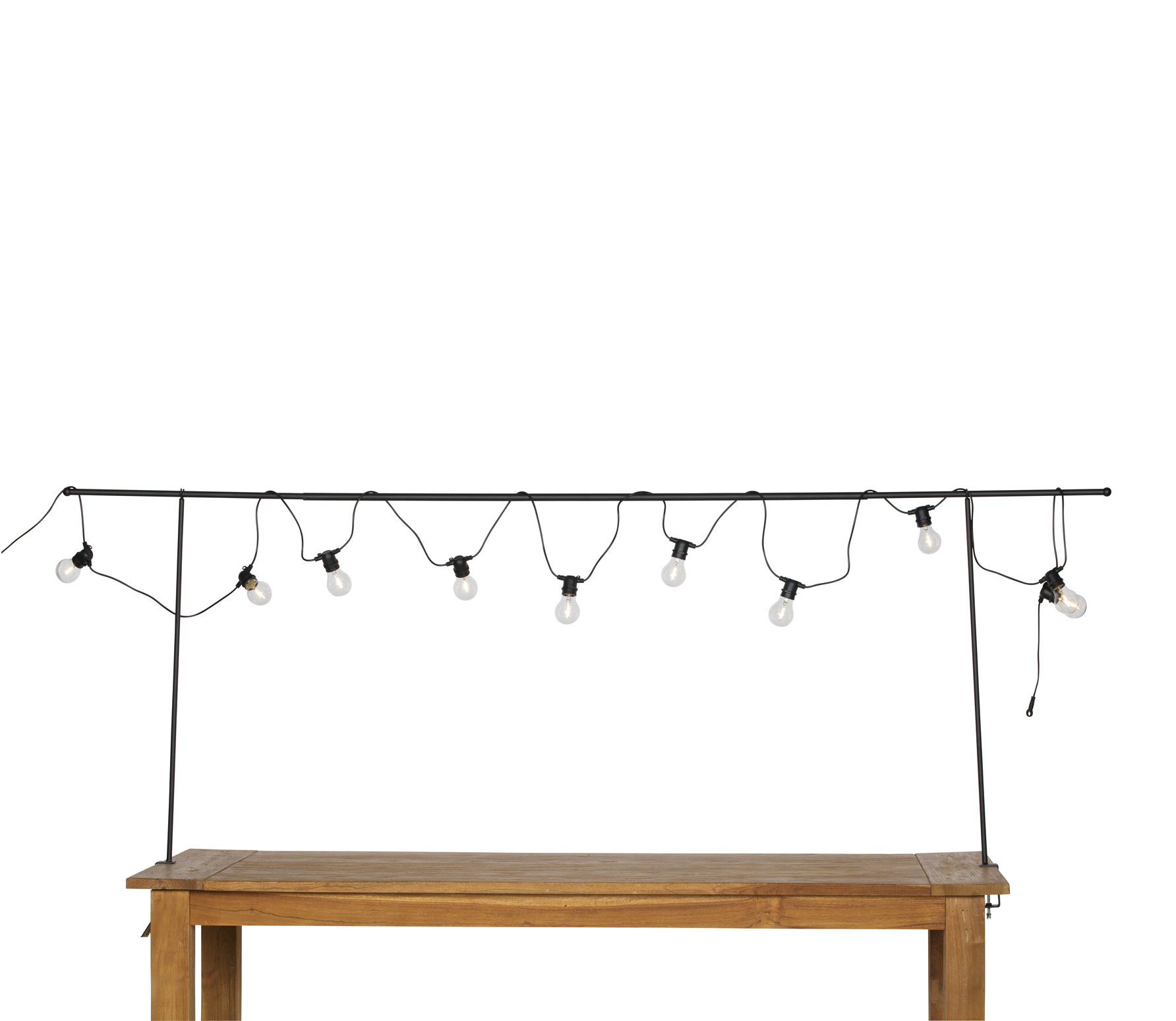 J-line Decoratieve tafelklem (zwart)-117745-8714763256841
