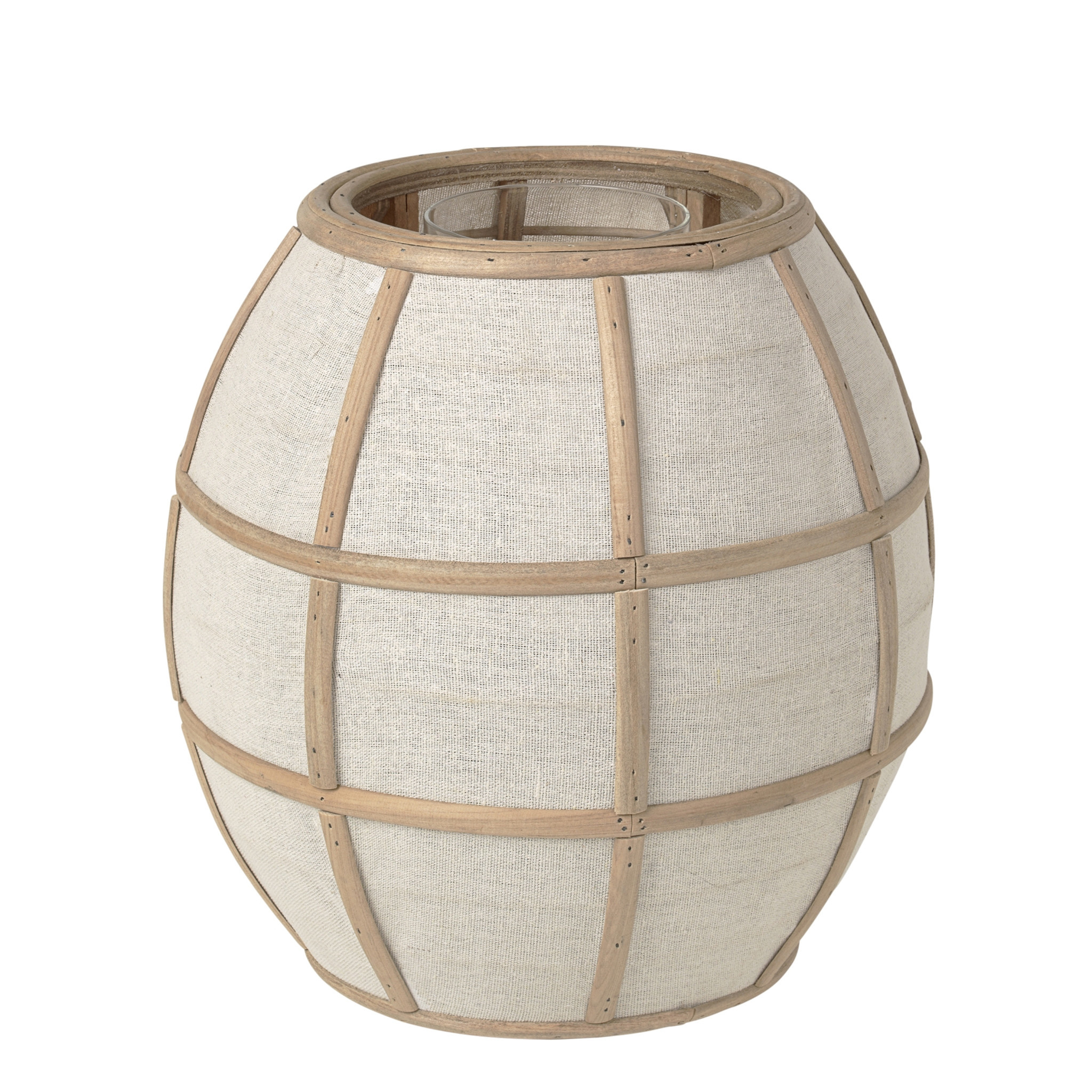 Broste Copenhagen Lantaarn 'stof' Bamboe/glas-14590798-5710688136148