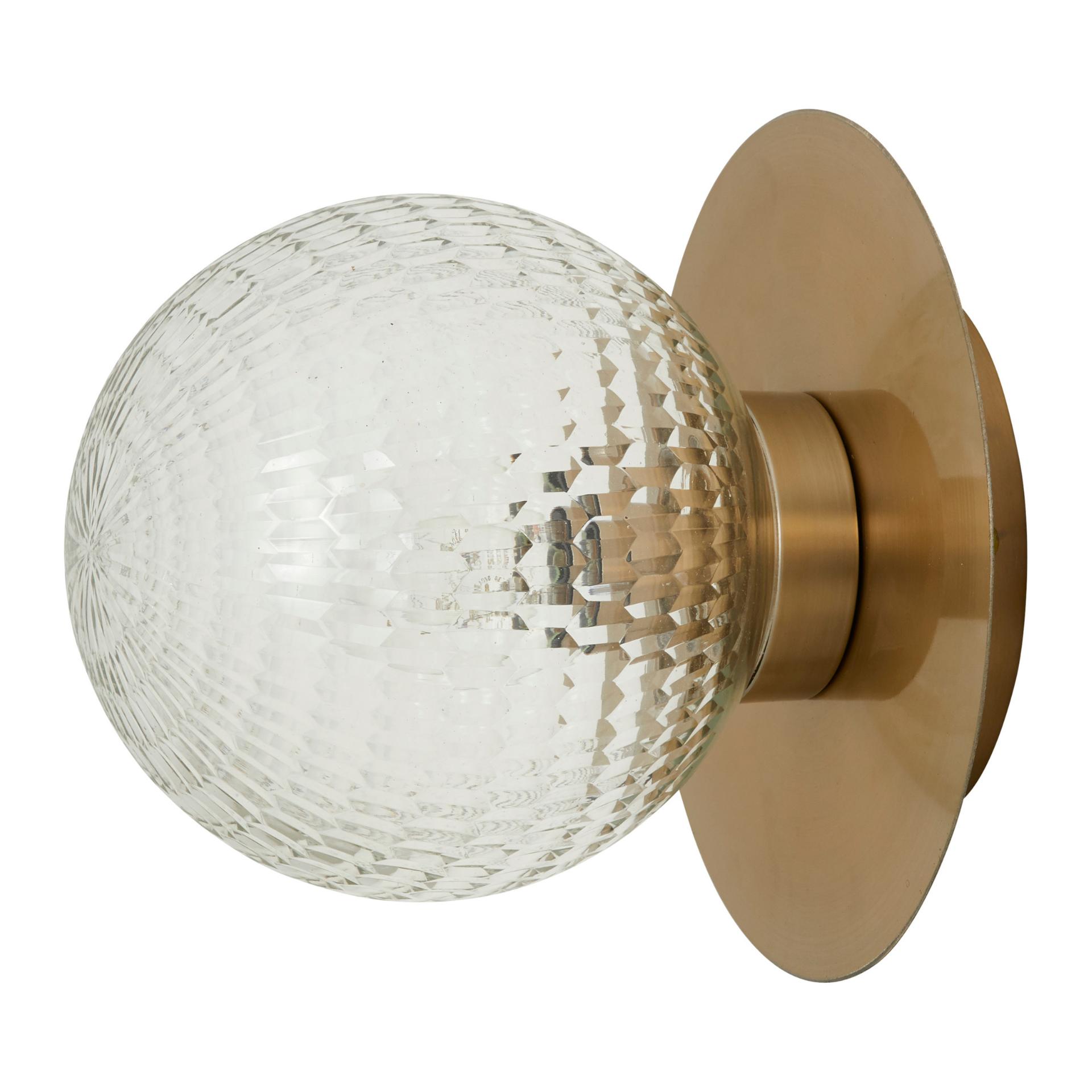 Nordal Wandlamp Anona goud/glas - 1573 - ø20 x 18 cm-1573-5708309164144