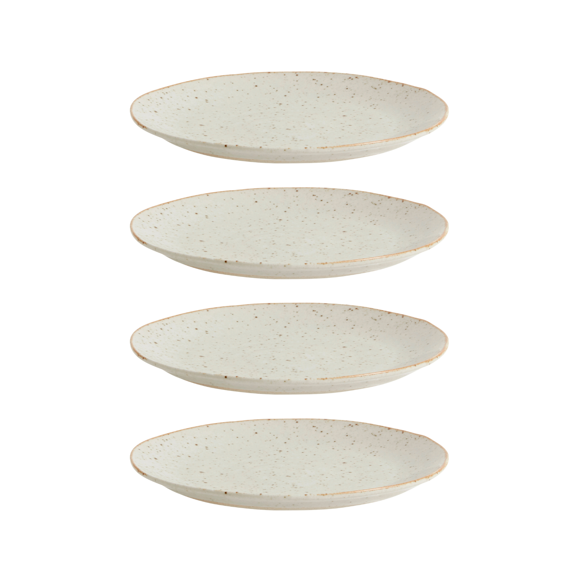 Nordal Grainy gebaksbord - zandkleurig - set van 4-57014-5708309157931