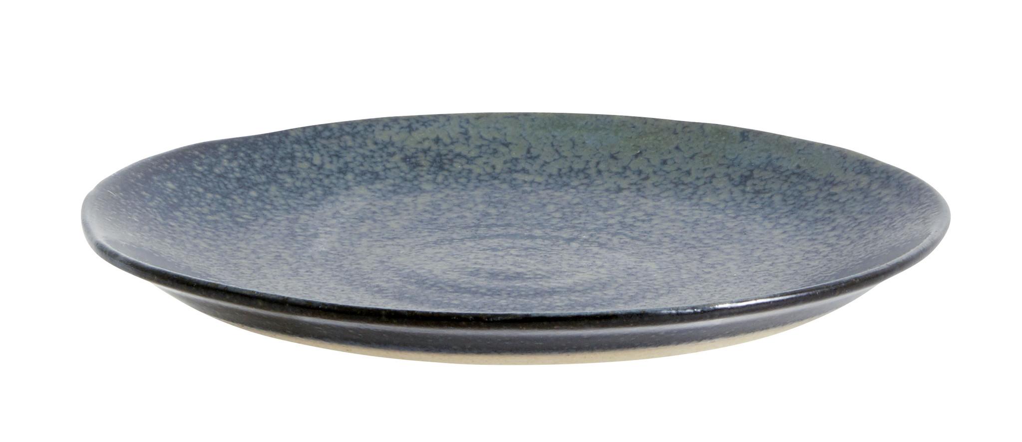 Nordal Grainy gebaksbord - donkerblauw - set van 4-57013-5708309157917