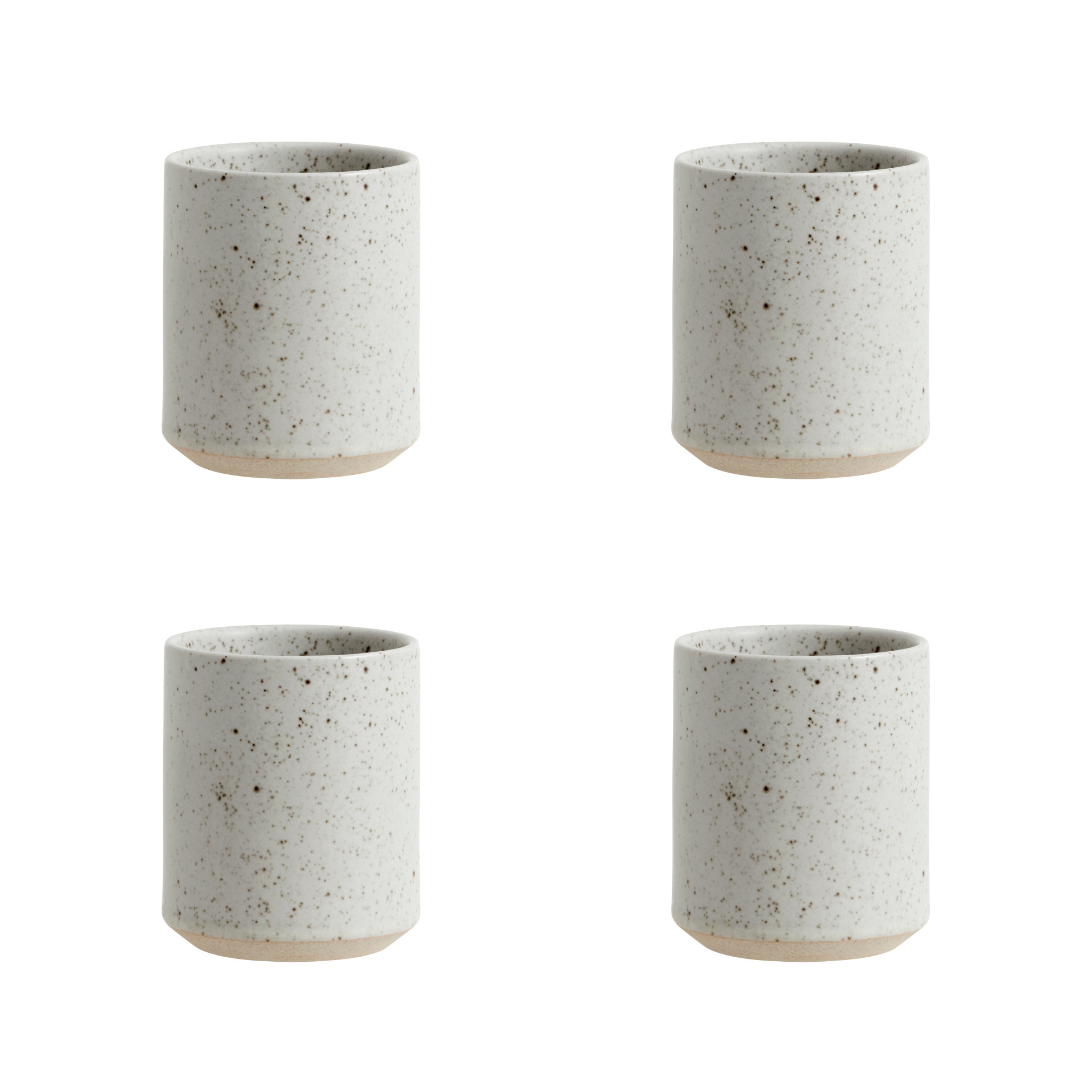 Nordal Grainy beker - zandkleur - set van 4