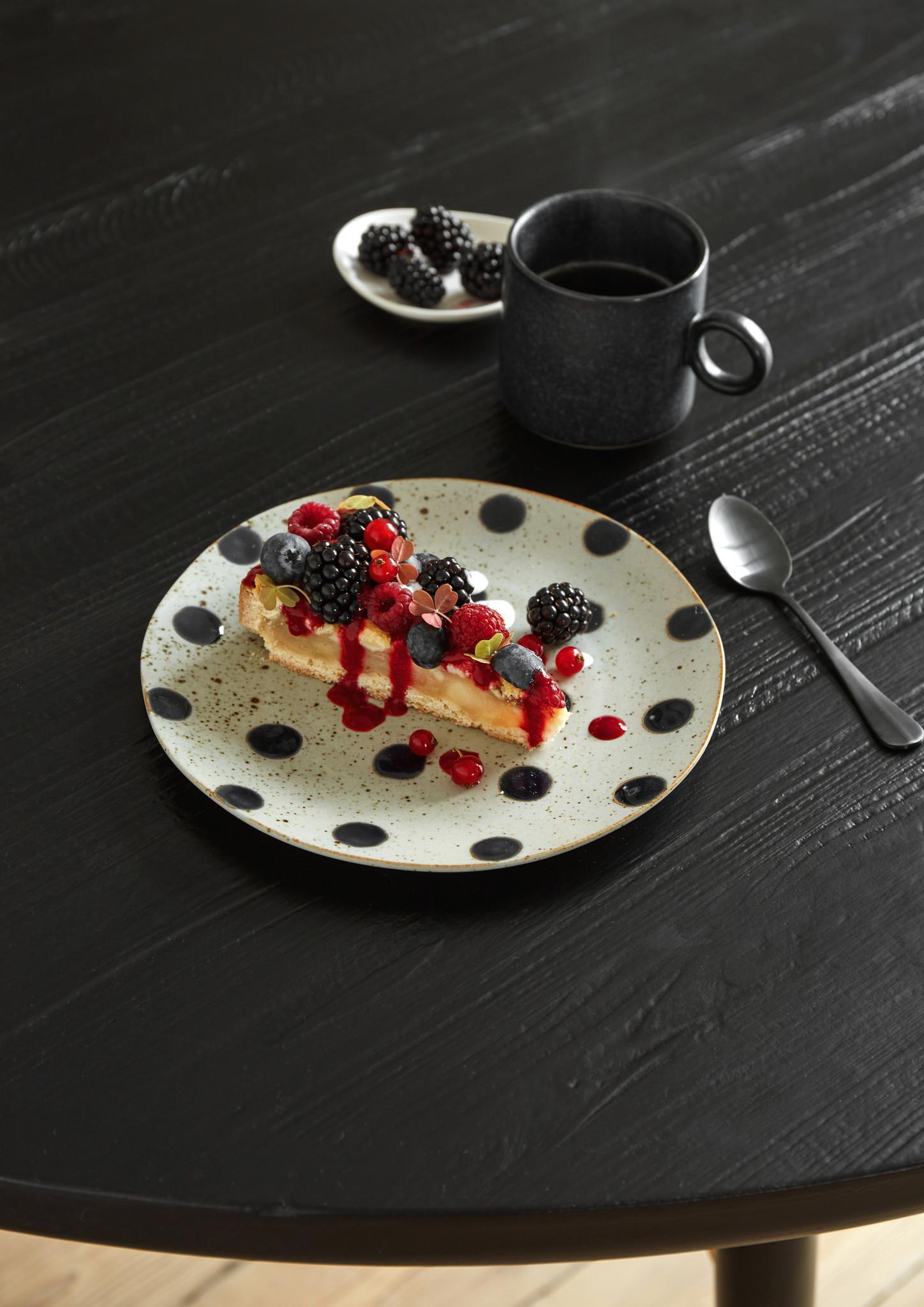 Nordal Grainy bord ø 21 cm - zand/donkerblauw - set van 4-57008-5708309157405