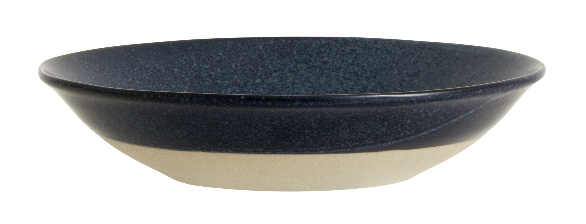 Nordal Grainy diep bord ø 22,5 cm - donkerblauw- 57009-5708309157412