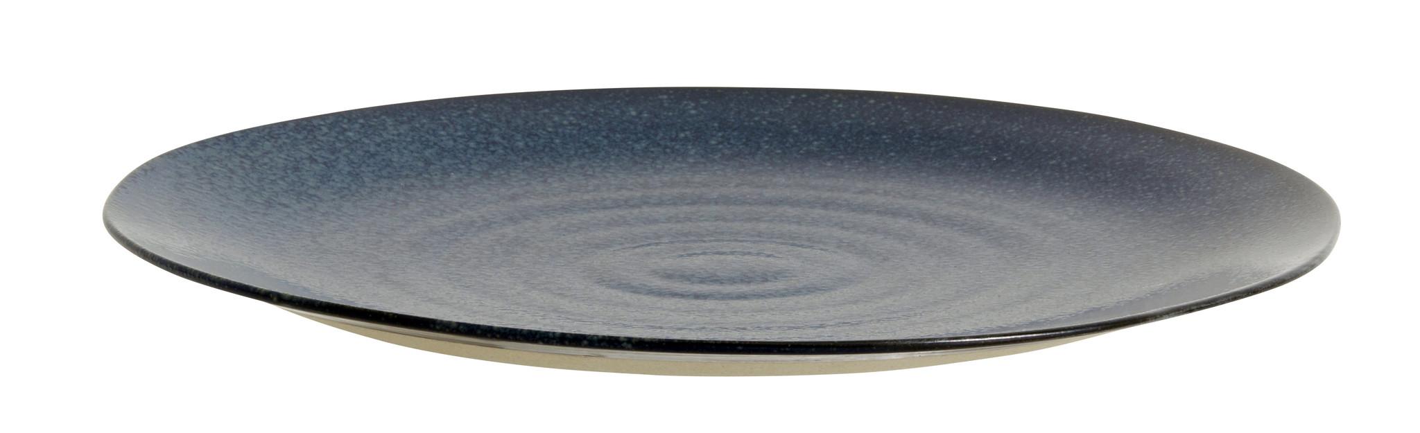 Nordal Grainy dinerbord ø 28 cm - donkerblauw - set van 4-57011-5708309157436