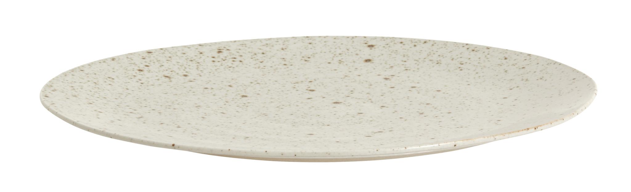 Nordal Grainy dinerbord ø 28 cm - zandkleurig - set van 4