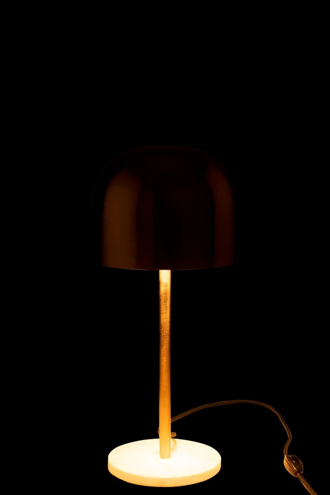 J-line J-Line Tafellamp Queen - Metaal Goud - Marmer