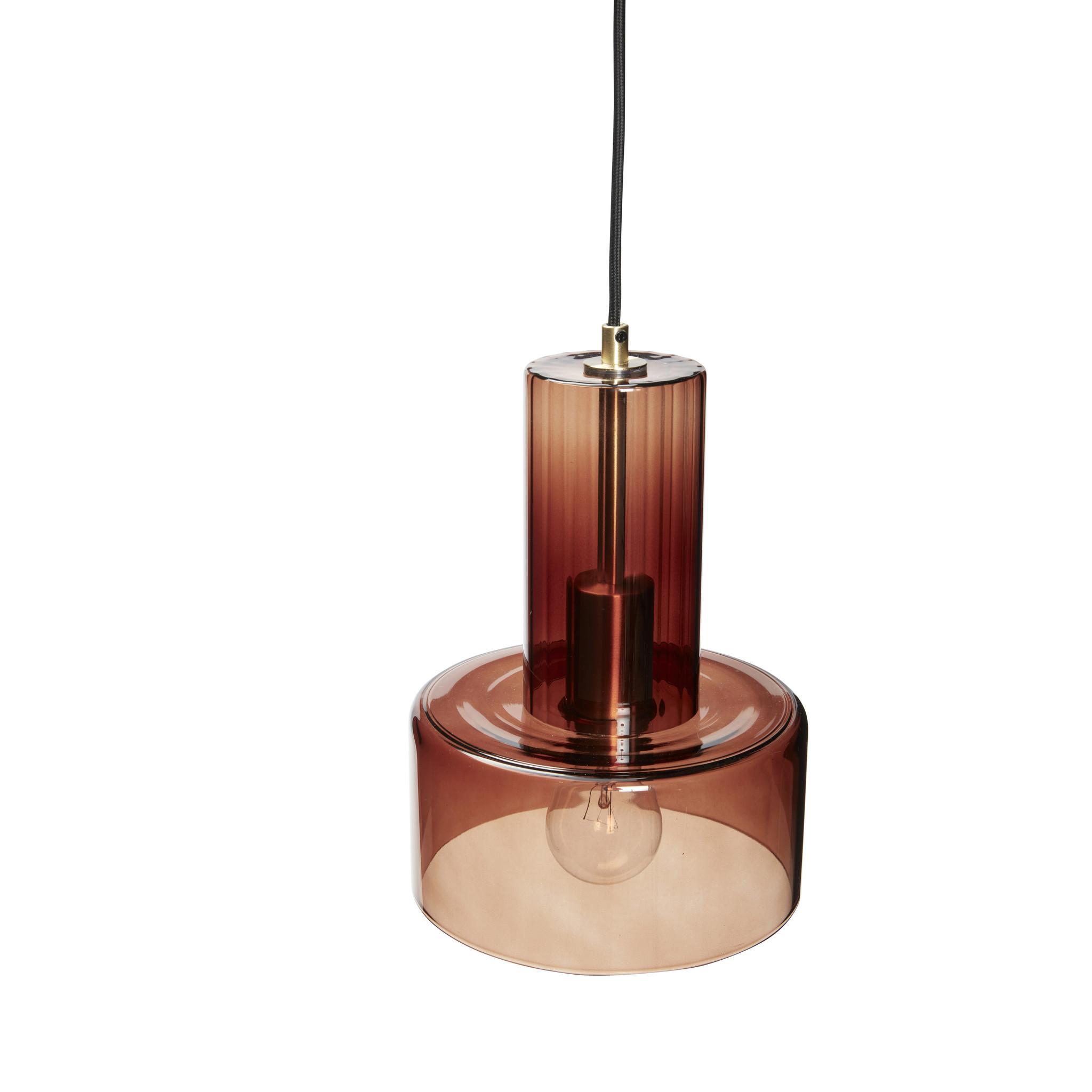 Hubsch Hanglamp bruin glas-991303-5712772111437