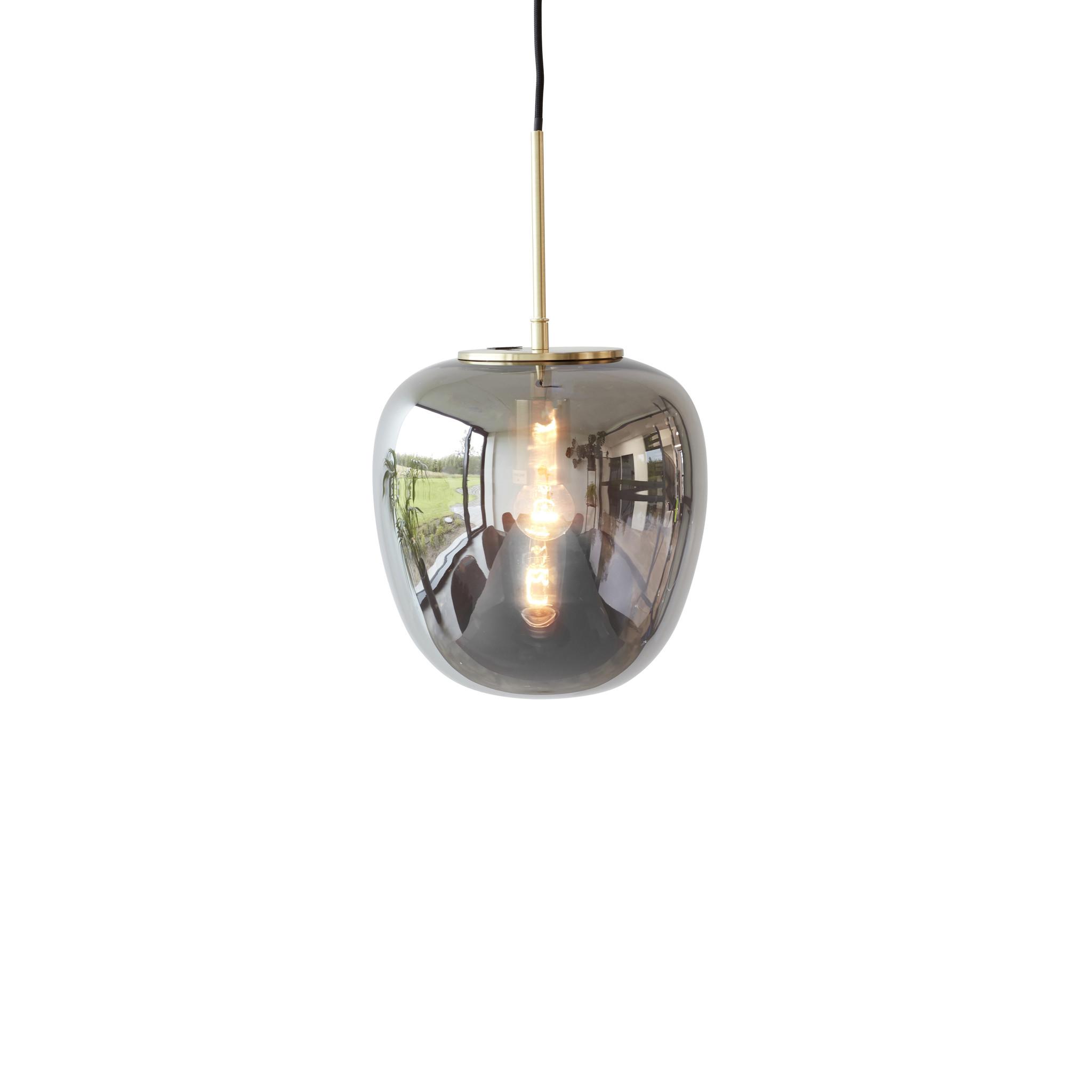 Hubsch Hanglamp glas spiegel/messing ø 30 cm-990722-5712772067451