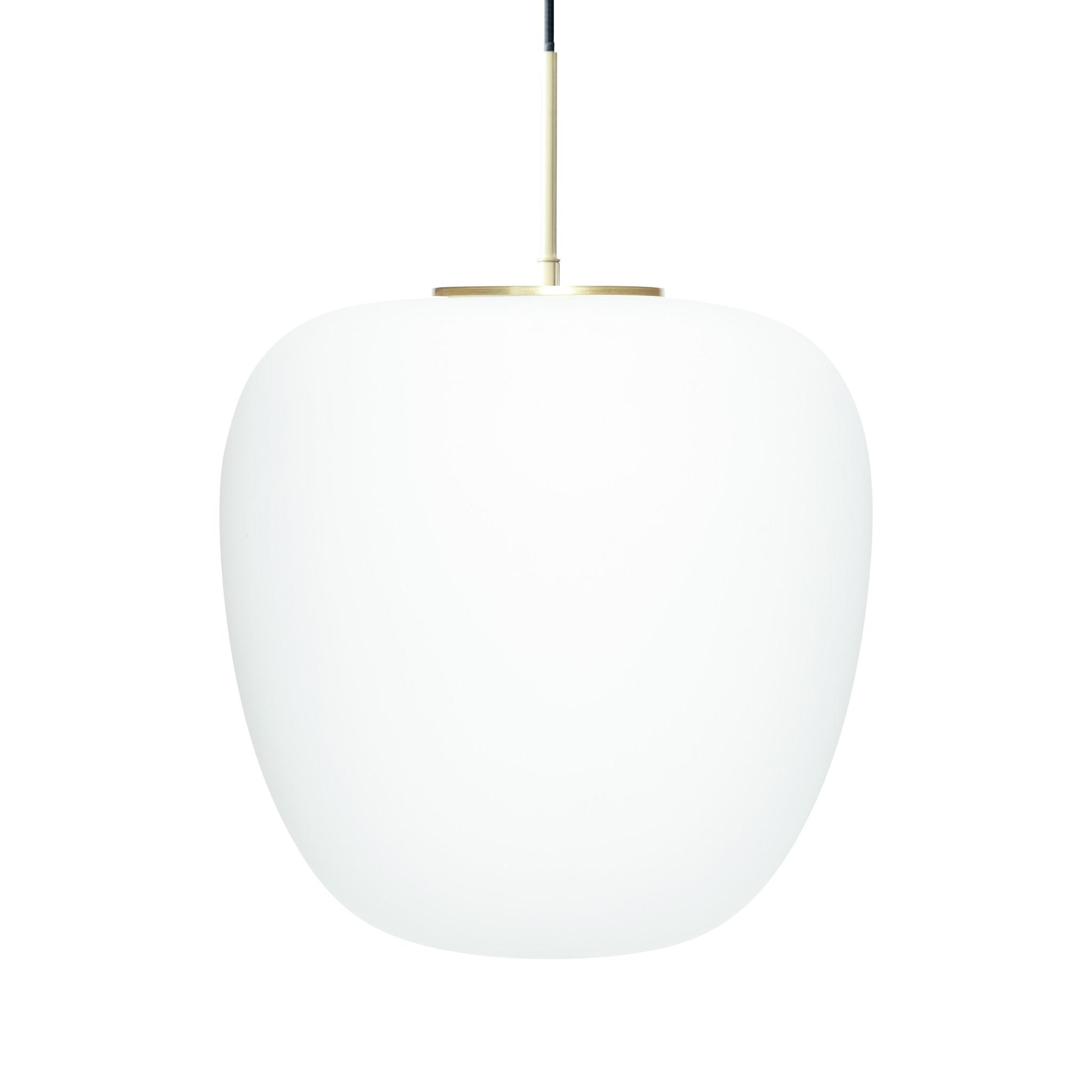 Hubsch Hanglamp glas wit/messing ø 40 cm