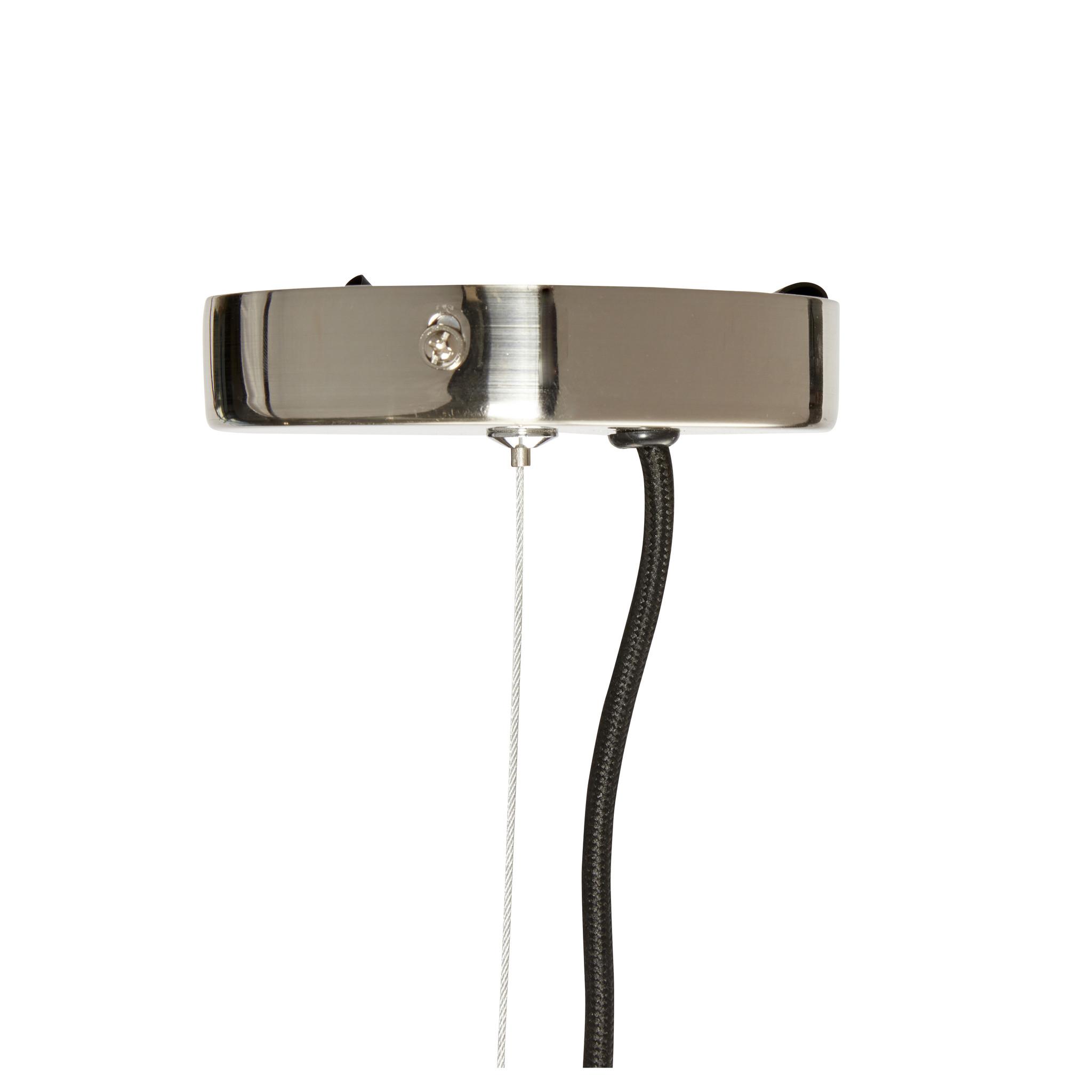 Hubsch Hanglamp helder glas/metaal/nikkel ø 41 cm-991322-