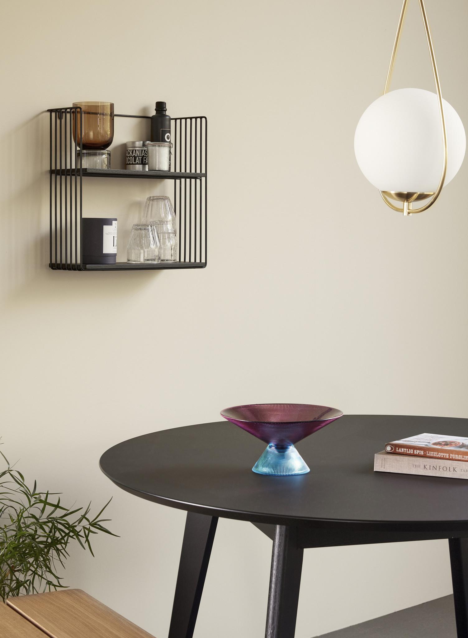 Hubsch Hanglamp glas/metaal, wit/messing