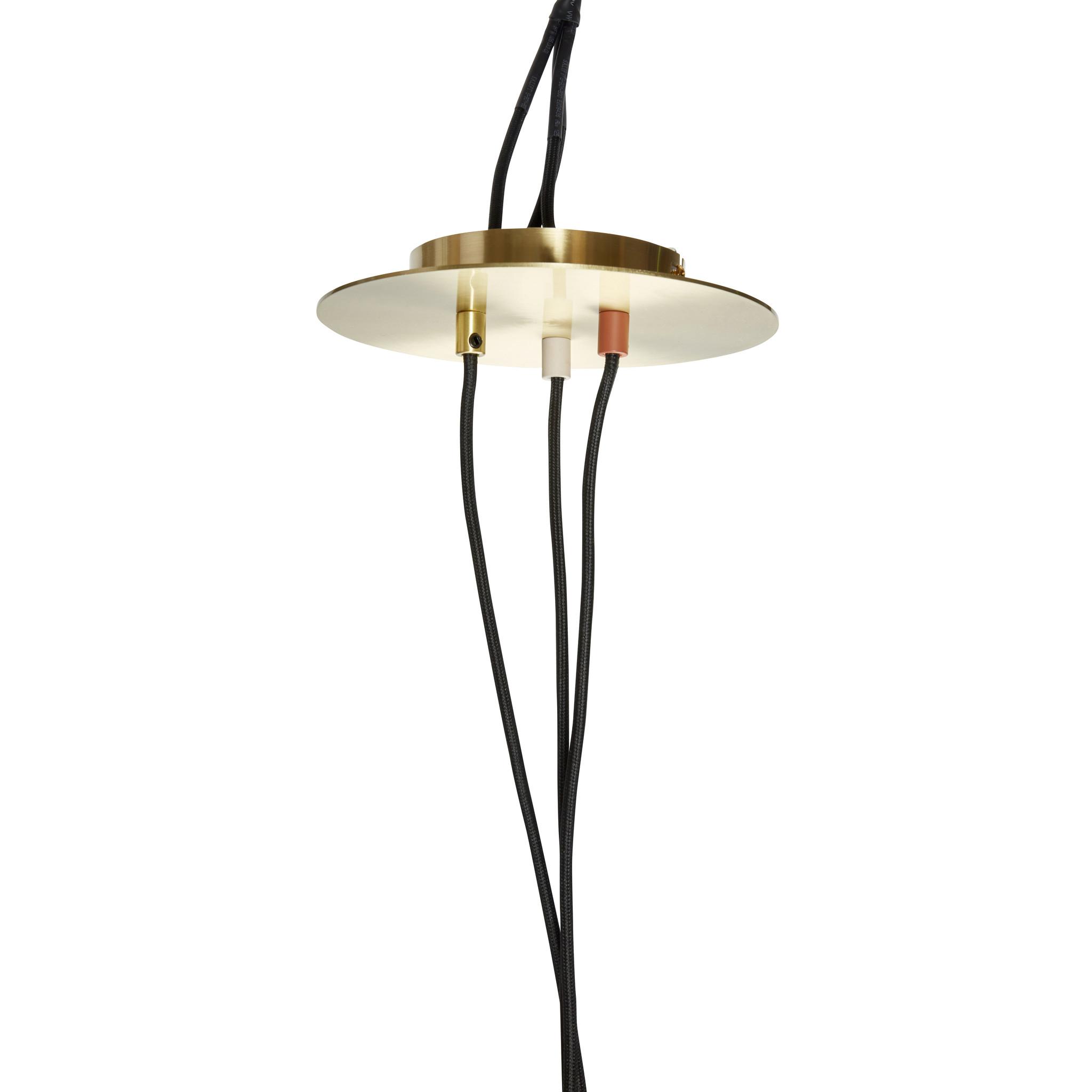 Hubsch Hanglamp metaal bruin/messing/beige