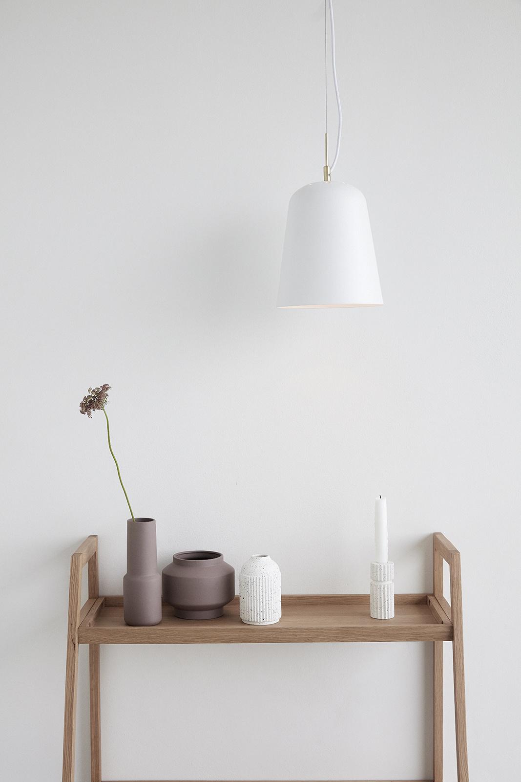 Hubsch Lamp, metaal, wit