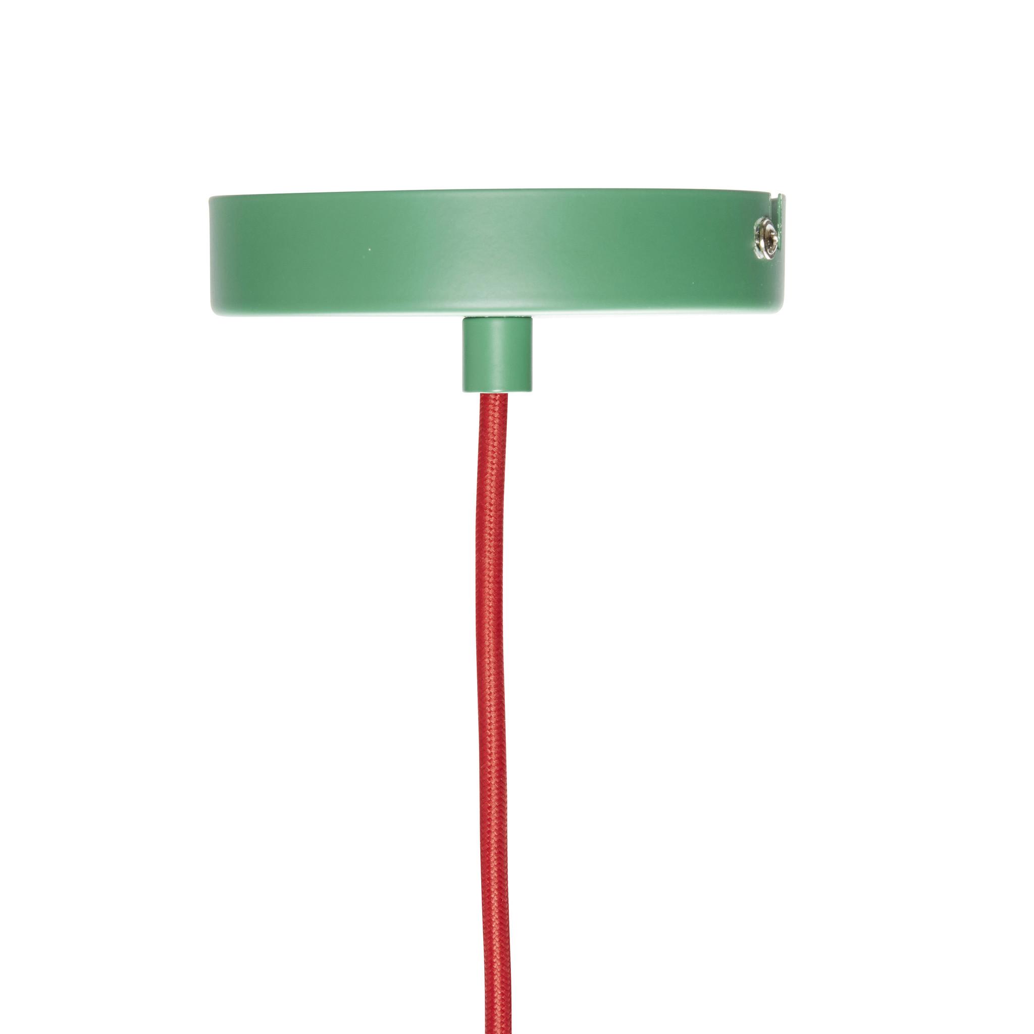 Hubsch Hanglamp metaal groen/rood