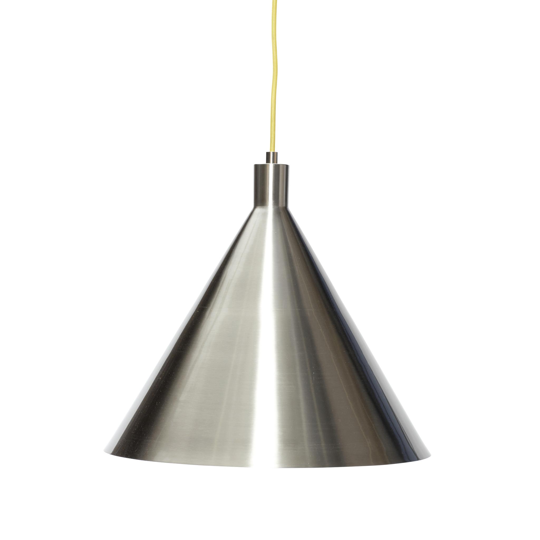 Hubsch Hanglamp metaal nikkel/geel