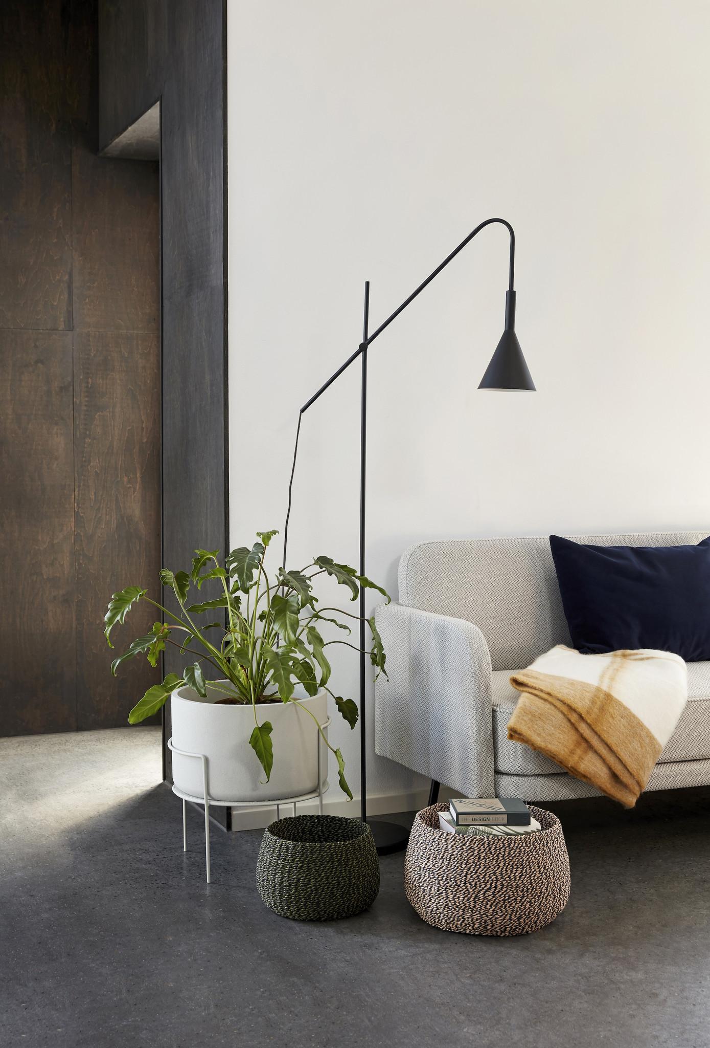 Hubsch Staande lamp, metaal, zwart