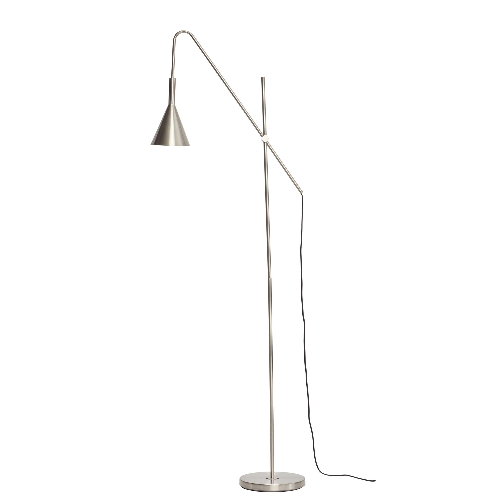 Hubsch Vloerlamp metaal/nikker
