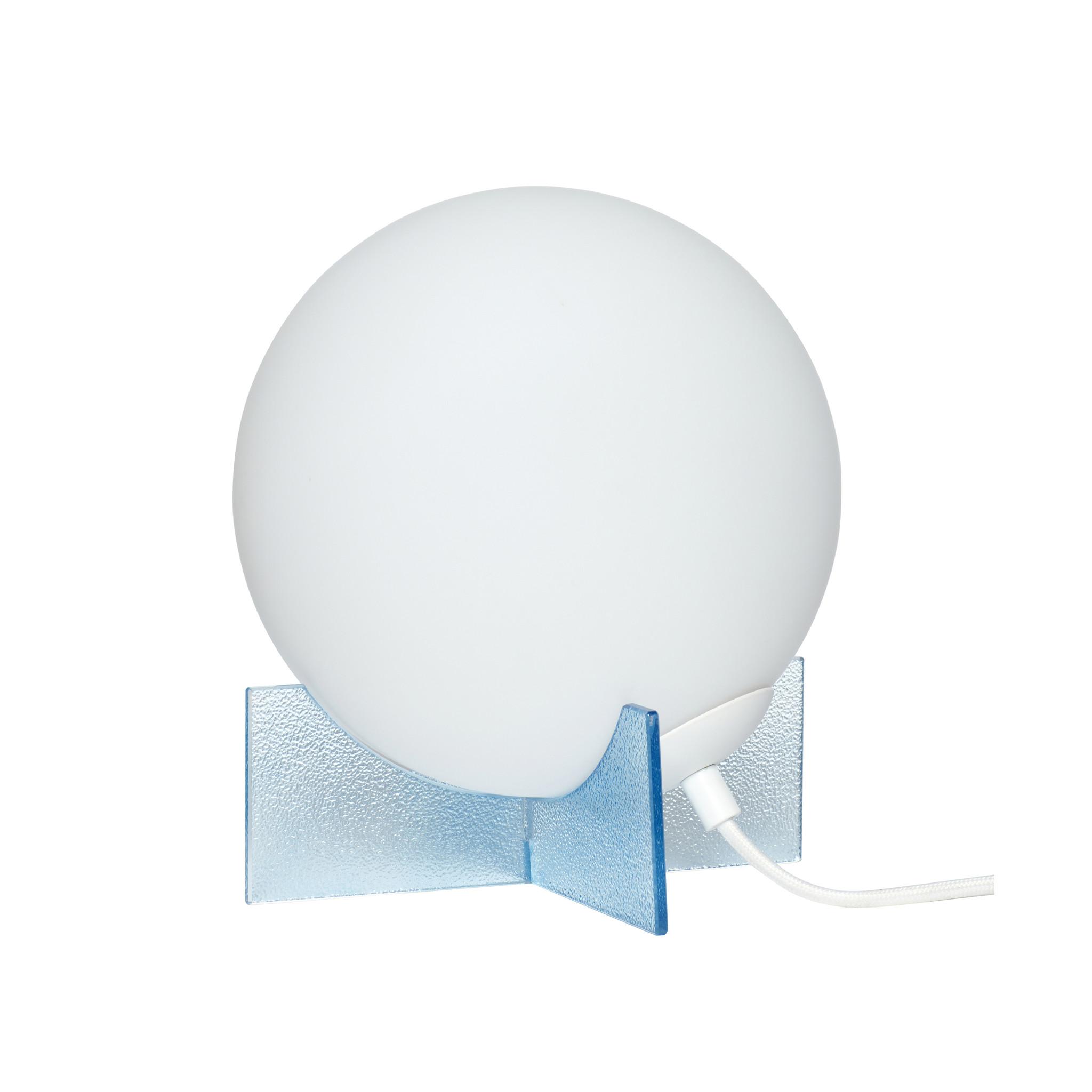 Hubsch Tafellamp glas, blauw